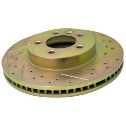 BRAKE DISC FRONT DRILLED AND GROOVED