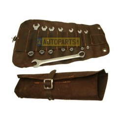 COMBINATION SPANNER SET METRIC IN LEATHER CASE
